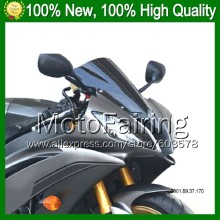 Dark Smoke Windshield For KAWASAKI NINJA ZX-14R 12-14 ZX 14 R ZX 14R ZX14R 12 13 14 2012 2013 2014 Q84 BLK Windscreen Screen