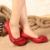 2017 Estilo Retro Handmade Chunky Salto Mulheres Bombas Sapatos de Couro Genuíno Dedo Do Pé Redondo de Salto Baixo