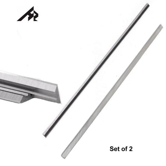 """HZ 2 Pcs 12 """"HSS פלנר סכין להבים 793346 8 לקיטה 2012NB 2012 Thicknesser פלנר 306 x 8x2mm פיפיות"""