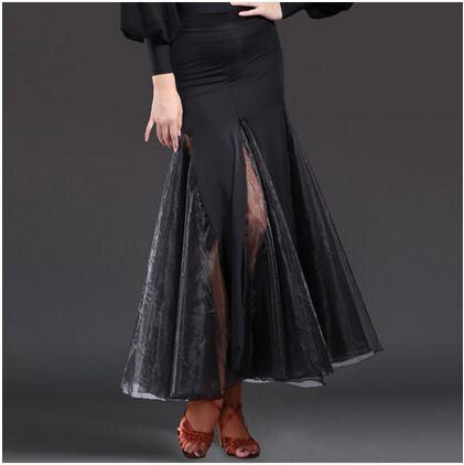 New Ballroom dance costumes sexy senior ice silk long skirt for women ballroom dance skirt S-XL