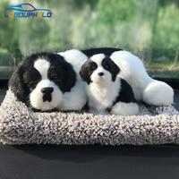 Dog Car Ornament Simulation Sleeping Dog Air Fresher Cute Car Dashboard Dolls Bamboo Charcoal Bag Activated Carbon Dropshipping