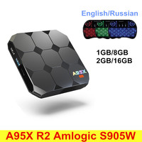 A95X R2 Android 7 1 2G RAM 16 Smart TV Box RK3328 Quad Core ROM Set