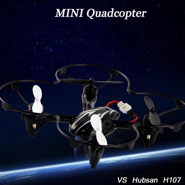Caliente Mini Quadcopter VS Hubsan X4 H107 RC aviones no tripulados eléctrica 2.4 G 4CH helicóptero 3D rollo con luz LED kvadrokopter