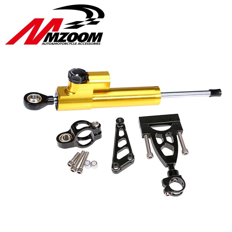 Бесплатная доставка ЧПУ Mzoom Hyperpro рулевой демпфер полный комплект для Honda cb400 системой VTEC 1999-2012 наборы W/ кронштейн