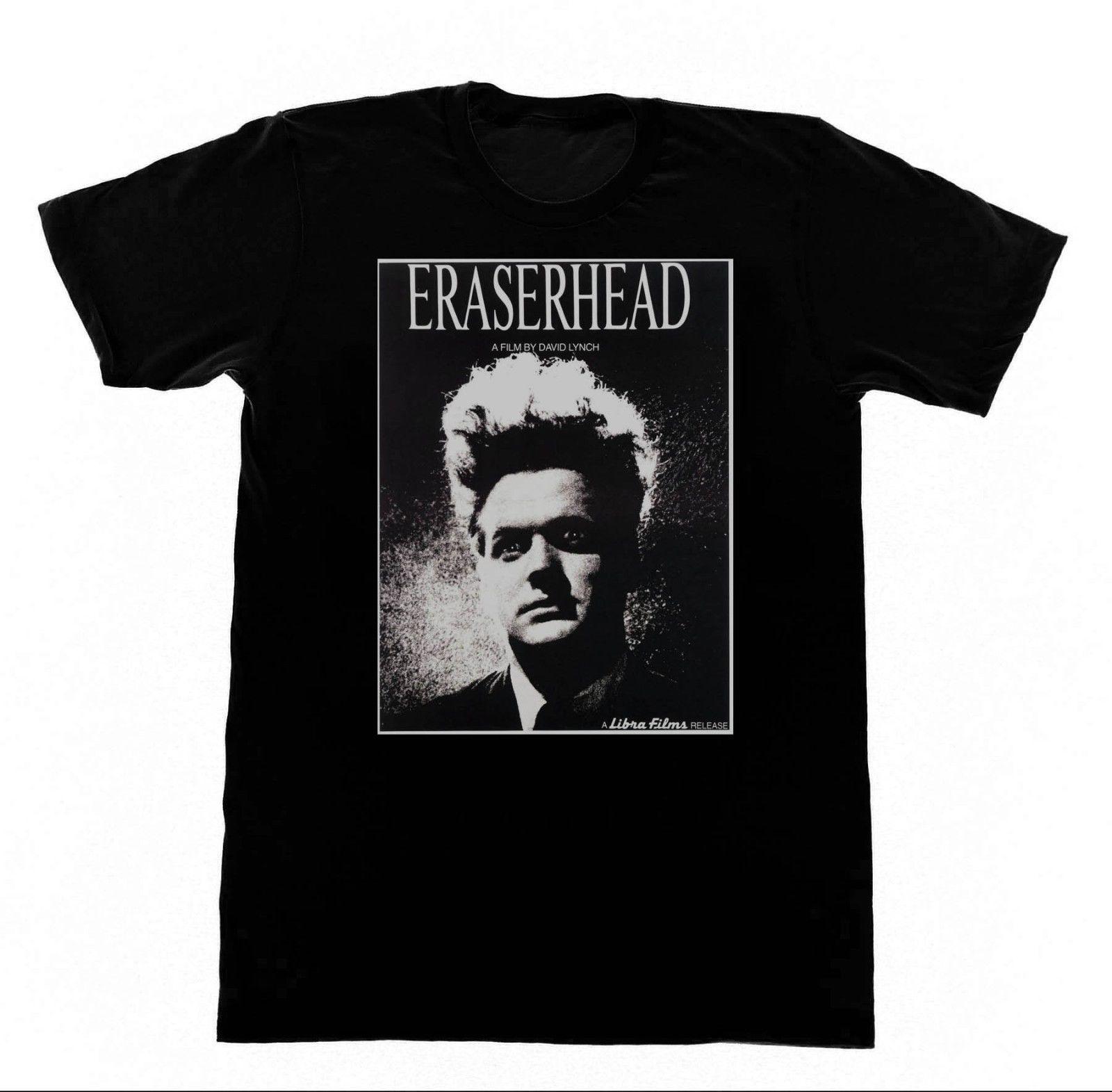 Eraserhead T-shirt David Lynch Eraser Head Twin Peaks 100% Cotton T Shirt for Man Top Tee O-Neck Stylish