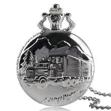 Ретро Серебряные наручные кварцевые карманные часы с грузовиком
