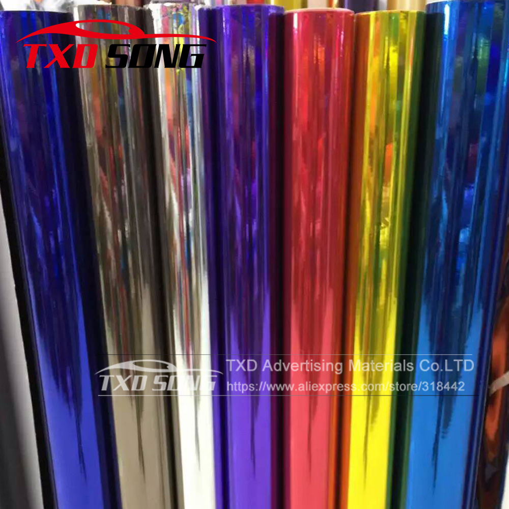 High stretchable Waterproof UV Protected silver gold Chrome Mirror Vinyl Wrap Sheet Film Car Sticker Decal