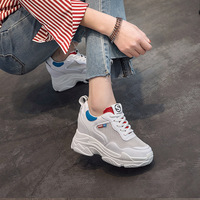Jookrrix 2018 Summer Fashion Brand Lady Casual Platform Shoes Women Shoe Mesh Black All Match Girl Sneaker Lace Up Breathable 5