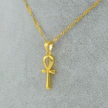 Egyptian Ankh Cross Pendant Necklace Chain Woman,Gold Plated Charms Jewelry Women Girls Egypt Hieroglyphs,Crux Ansata #057006