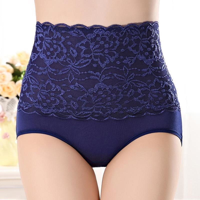 HW4 High Waist Women's Lace Underwear Briefs Female Sexy Seamless Breathable Comfortable Panties Underwears Calcinha Sem Costura