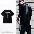 2016 Kanye West Моды футболки страх божий Хип-Хоп Негабаритных Футболки Camiseta Strretwear Hombre Бренд Одежды