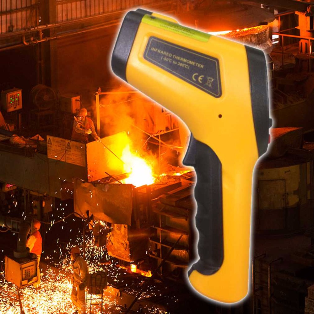 1 pc HT-868 Precise High Temperature Infrared Thermometer With Type K Input Laser And Backlight Range -50 To 1050 Degree Celsius  цены