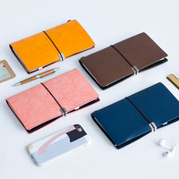 Climemo Notebook, Retro PU Leather Notepad, bullet journal sketchbook agenda diary, for Business Travel Student 20*12.5cm