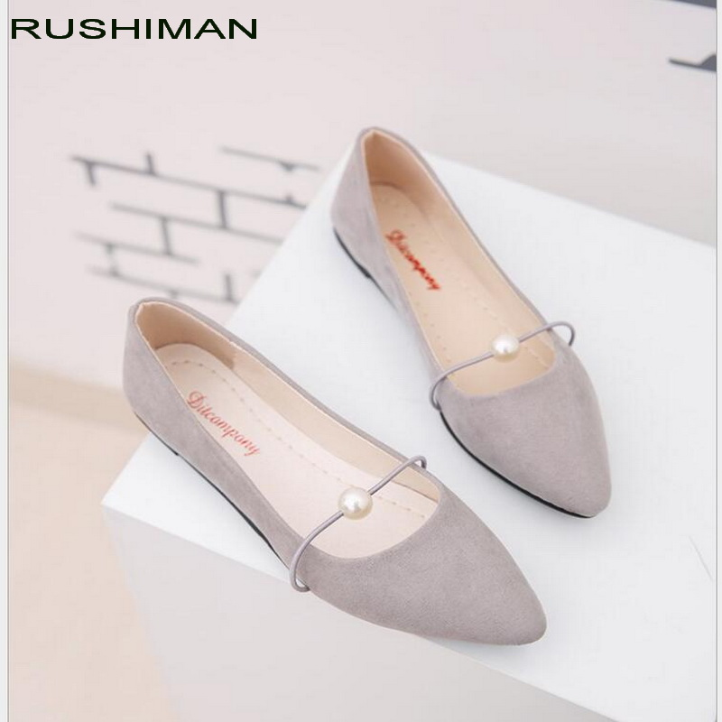 Spring New Women pointed Flats Fashion Flock Woman Loafers Ballerina Flat Casual Shoes work shoes Plus size 35-41 spring summer flock women flats shoes female round toe casual shoes lady slip on loafers shoes plus size 40 41 42 43 gh8
