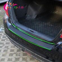 Protector de parachoques trasero de goma para coche, cubierta embellecedora, placa de calcomanía de coche para Mercedes Benz W211 W221 W220 W163 W164 W203 W204 W163