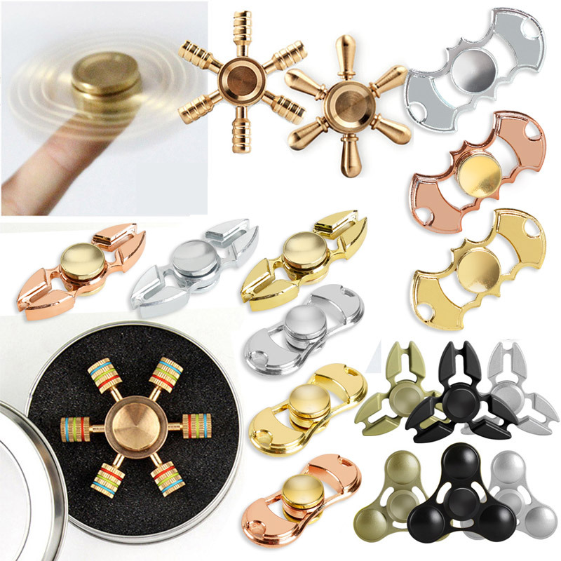 05c1a89e10ab 2017 Hot Sale Adults Stress Relieve Hand Spinner Zinc Alloy Mtal Children  Fidget Fly Spinner Toy