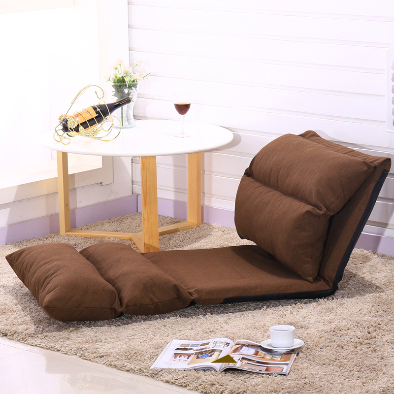 Mianma lazy sofa ,single folding tatami bed chair ,bedroom small sofa pad window,Bedroom furniture lazy sofa bean bag with pedal creative single sofa bedroom living room lazy stool tatami