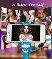 2017 Последним Дистанционного управления Selfie Stick Mini-3s Телефон Держатель Со СВЕТОДИОДНОЙ Вспышкой Заполняющий Свет Выдвижная Ручной Проводной Selfie Stick U