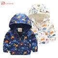 Nova qualidade confortável Animal Atividade Com Capuz Casacos Outerwear Crianças Jaqueta Meninas Do Bebê Girafa Impressão Roupas Blusão