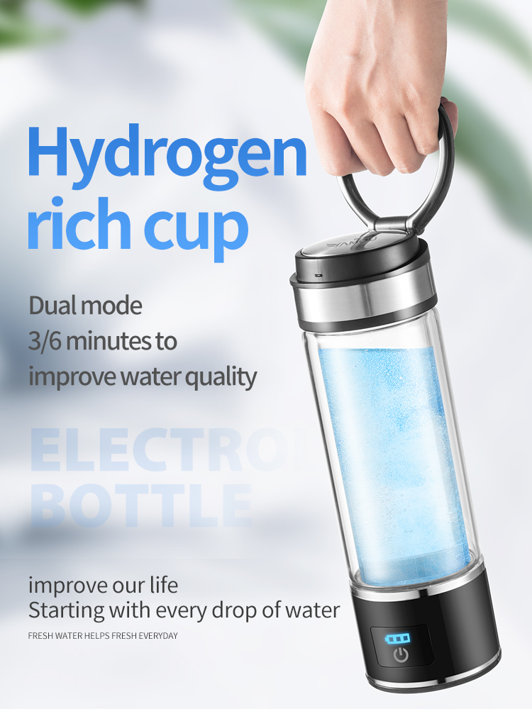 Rechargeable Rich Hydrogen Water Generator electrolysis Energy Hydrogen-rich Antioxidant ORP H2 Water Ionizer PP Bottle high quality hydrogen generator hydrogen rich water machine hydrogen generating maker water filters ionizer 2 0l pp material