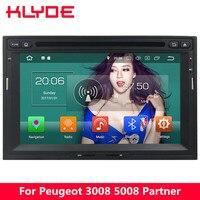 KLYDE 7 4G Android 8 Octa Core 4G B Оперативная память 32 ГБ Встроенная память DVD мультимедиа плеер радио для peugeot 3008 5008 партнер/Citroen Berlingo