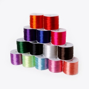 50M/roll 0.7mm Elastic Thread Round Crystal Line Nylon Rubber Stretchy Cord Wire For Jewelry Making Beading Bracelet 14colors(China)