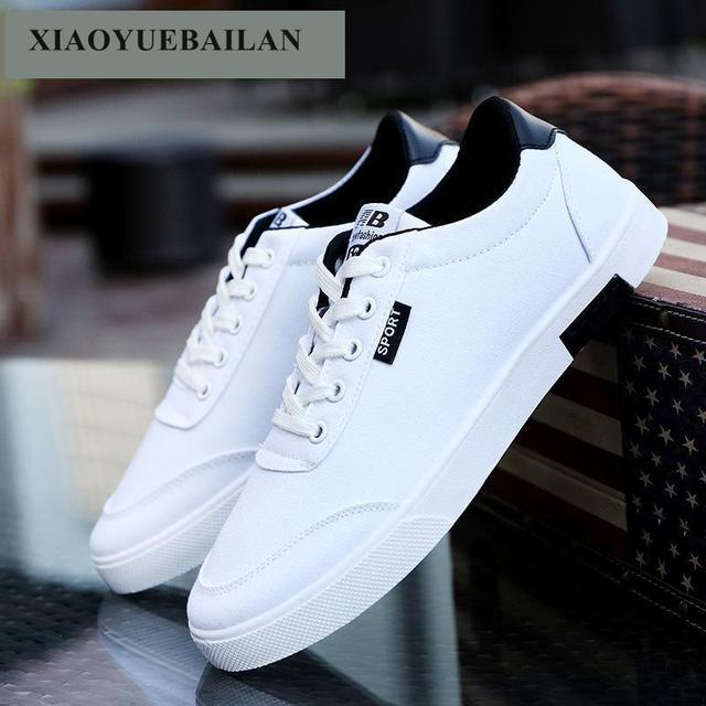 The Spring And Autumn Men's Casual Shoes Breathable  Boys Students Fashion Canvas  shoes