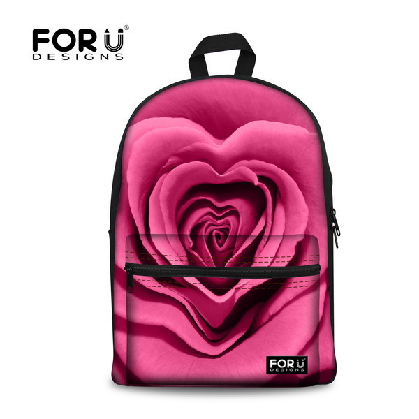 3eb0c7536db FORUDESIGNS hot sale travel women backpacks children canvas school backpack  student laptop schoolbags 3d rose print shoulder bag