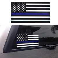 1PCS Ufficiale di Polizia Sottile Linea Blu Bandiera Americana Della Decalcomania Del Vinile Adesivo Auto #1