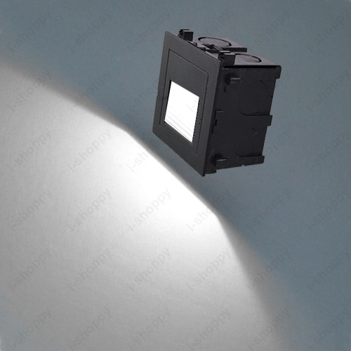 1W LED Outdoor Wall Sconces Waterproof Light Fixture Stair Step Stage  Recessed Downlight Lamp Mounting Box