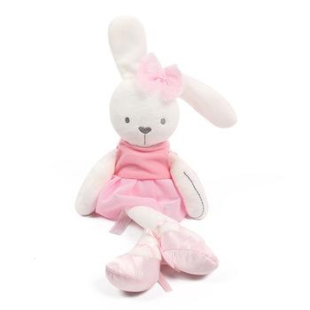 Wypchane zwierzę króliczek zabawka króliczek rozmiar 30*25cm dziecko dzieci miękkie pluszowe zwierzęta dziecko dziecko dziewczyna śpiące Stufed zabawki zwierzęta domowe tanie i dobre opinie MOONBIFFY rabbit Sintepon bear Pluszowe nano doll 3 lat Miękkie i pluszowe Pp bawełna Dziewczyny