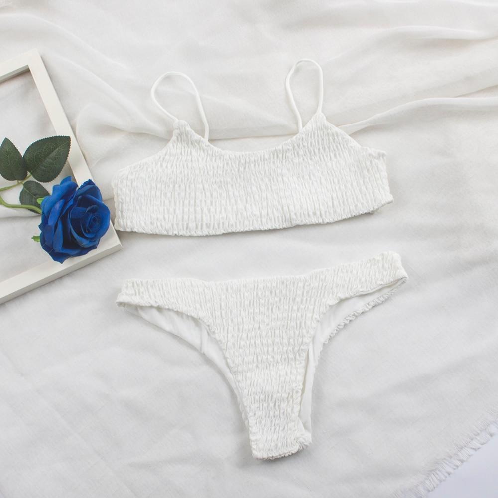HTB1m LRXtfvK1RjSspoq6zfNpXaE Sexy Pleated Bikinis 2019 mujer Women Swimsuit Swimwear Women Female Brazilian Bikini Set Beach Wear high cut Bathing Suit 313