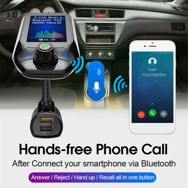 Bluetooth Car FM Transmitter MP3 Player Hands Free Radio Adapter Kit USB Charger Stereo Car MP3 Player Audio Adapter 2019 New