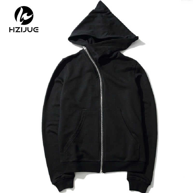 Men Hooded With Black Gown Fashion Hip Hop Mantle Hoodies Hat Sweatshirts long Sleeves Design Cloak Winter Coats Outwear Loose