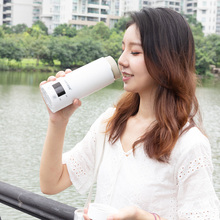 Electric kettle mini Portable travel thermos the smart mug Multi function teapot milk heating cup Stainless steel hot water pots dmwd auto electric bottle portable car hot water heater cup travel heating kettle teapot stainless steel coffee tea mug 12v 24v