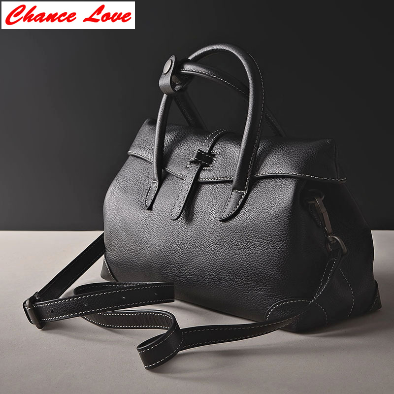 ФОТО Chance Love Women Bags Satchels Soft Genuine Leather Solid Cover Spring /Summer Shoulder & Handbags Exquisite Design Bags