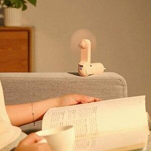 Image 3 - Mini ventilateur portatif portatif beau petit ours Usb pliable polyvalent ventilateur extérieur Rechargeable ventilateur de bureau pour la maison