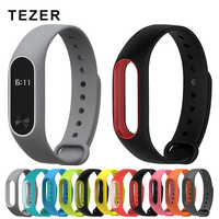 Original Colorful Silicone Double Color Wrist Strap Bracelet  Replacement for Original watch Miband 2 Xiaomi Mi band 2