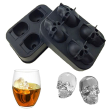 1PC Skull Gun Ice Mold Silicone Cube for Cocktail Whiskey Cream Maker DIY Kitchen Tray Party Bar Tool