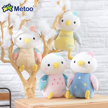 Metoo Kawaii кукла милый мультфильм для девочек детские мягкие милые животные Плюшевые Птицы Мягкие игрушки для детей Рождественский подарок на ... >> Metoo Dreamy World Store