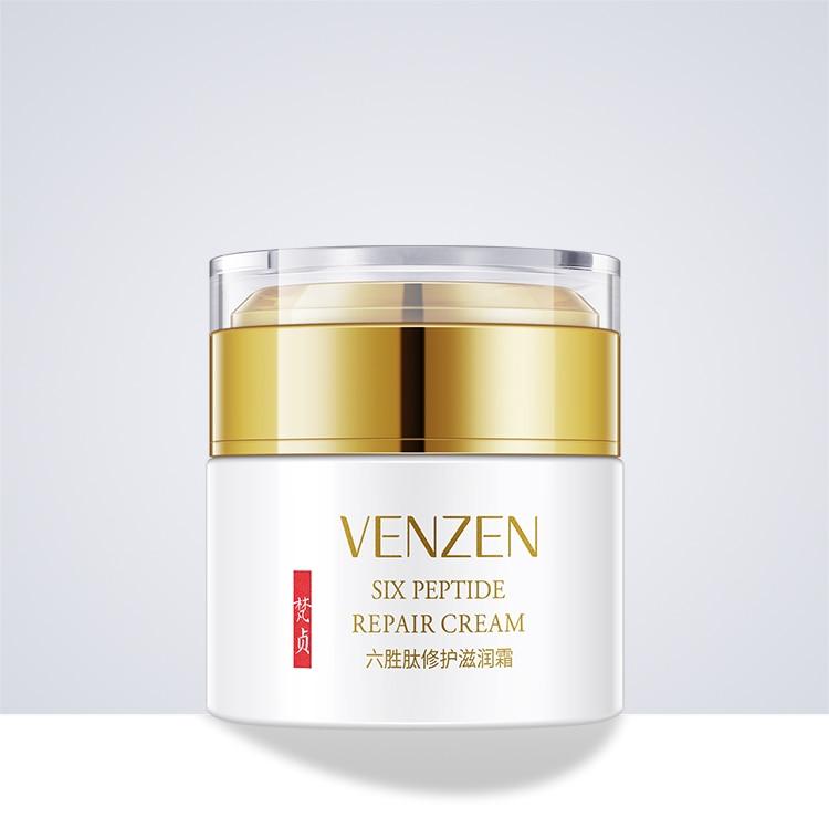 50g VENZEN six peptide face cream whitening Vitamin E anti-wrinkle nourishing herbal skin lightening moisturizer DAY NIGHT CREAM