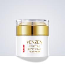 50g VENZEN six peptide face cream whitening Vitamin E anti-wrinkle nourishing herbal skin lightening moisturizer DAY NIGHT CREAM other all day cheese 50g