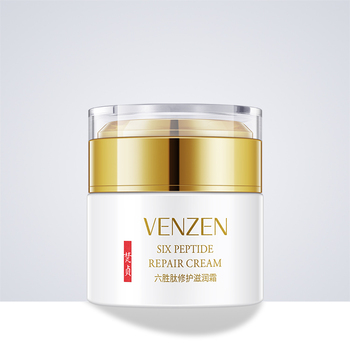 50g VENZEN six peptide face cream whitening Vitamin E anti-wrinkle nourishing herbal skin lightening moisturizer DAY NIGHT CREAM недорого