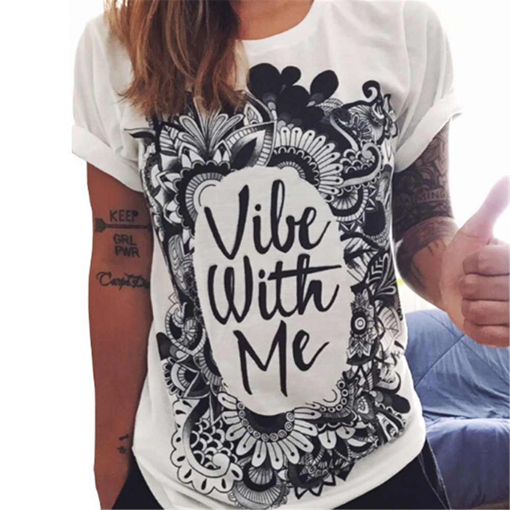 Fashion T shirt Summer Women Clothing Printed Punk Rock Graphic Tees Short Sleeve O Neck T Shirt