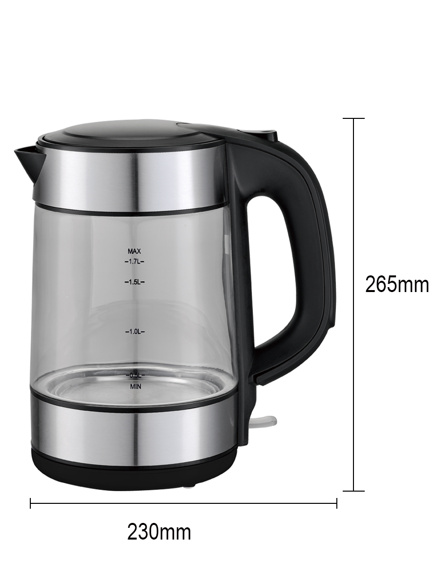DSP Electric Kettle with Auto Shut-Off 1.7L Glass Teapot Fast Boiling ss
