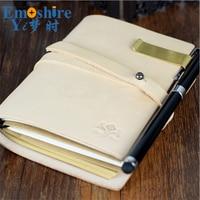 Travelers Notebook Genuine Leather Cover Olive Green Handmade Sketchbook Planner Creative Vintage Dokibook Agenda Diary N128