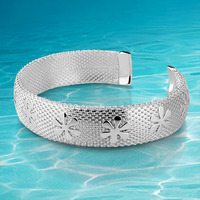 Fahion Bangle For Girls 925 Sterling Silver Adjustable Size Bangle For Women Fashion Jewelry Bangle Brand