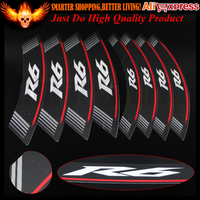 High Quality R6 logo MOTORCYCLE Rim Strips Wheel Stickers Decals for Yamaha R6