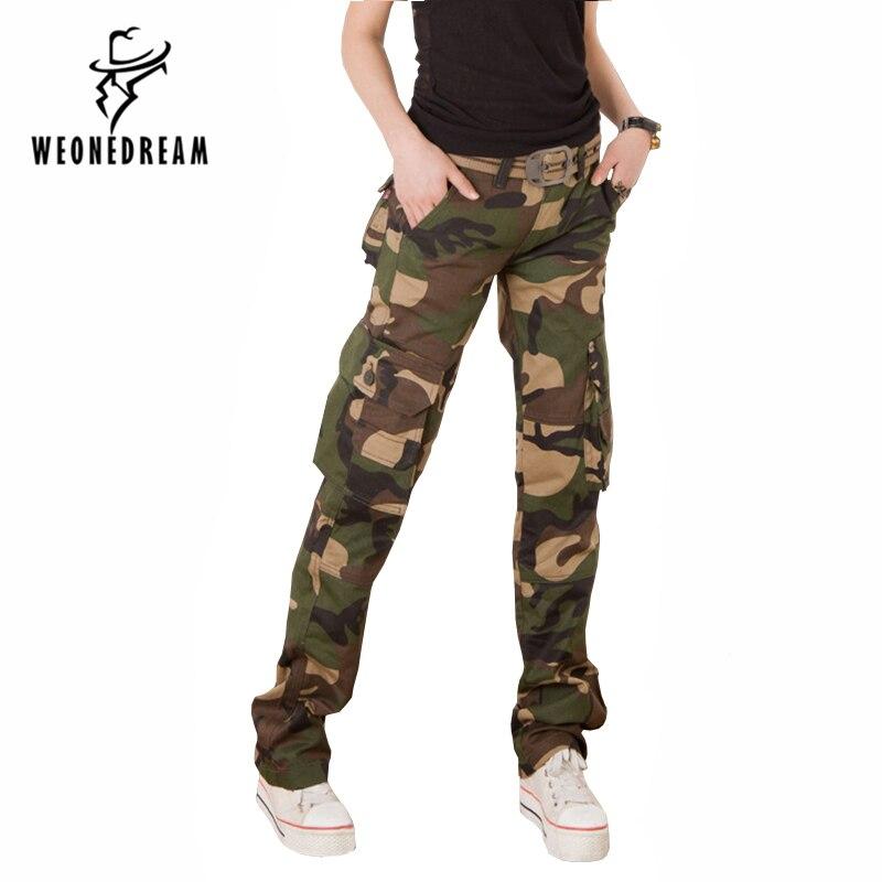 3979a967c1504 ... Casual Women Camouflage Pants Tactical Camo Cargo Pants Women Military  Fashion Loose Baggy Pants Multi- ...