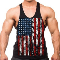 Tank Top Men 2018 Brand Male 3D Printing U S Flag Sleeveless Vest Clothing Bodybuilding Top
